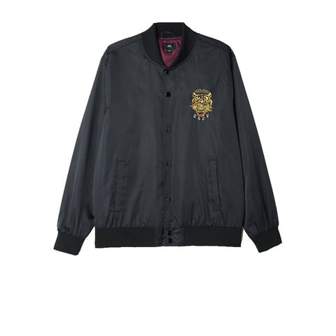 Obey Savage Satin Jacket Black