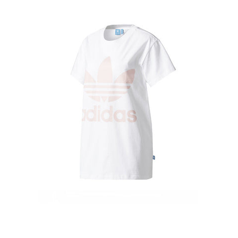 Adidas Big Trefoil Tee White Ice Pink