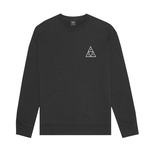 HUF Essentials TT Crew Black