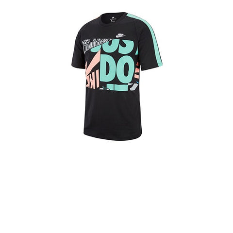 Nike Tee AOP IDJ Black Sunblush Light Menta