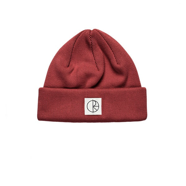Polar Double Fold Beanie Brick Red
