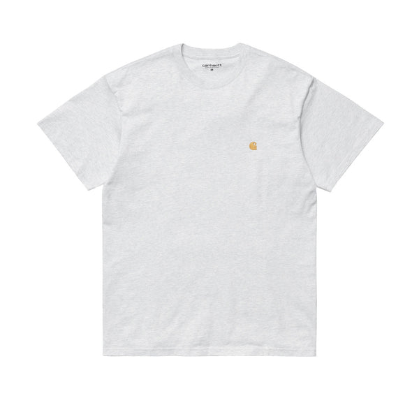 Carhartt WIP S/S Chase T-Shirt Ash Heather/Gold