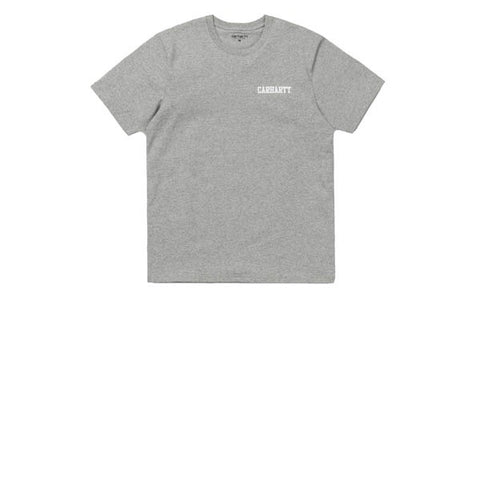 Carhartt S/S College Script T-Shirt Grey Heather White