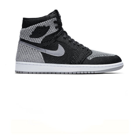 Air Jordan 1 Retro Hi Flyknit Black Wolf Grey