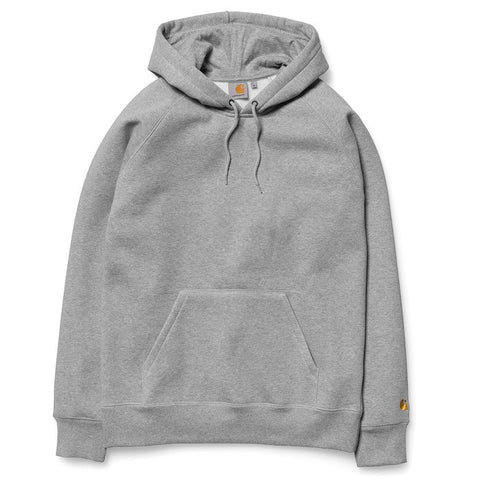 Carhartt Hooded Chase Sweat Grey Heather - Kong Online - 1
