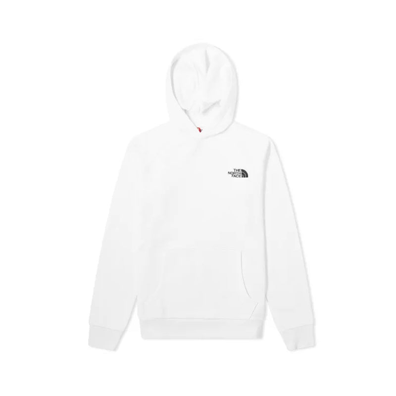 The North Face Raglan Red Box Hoodie White