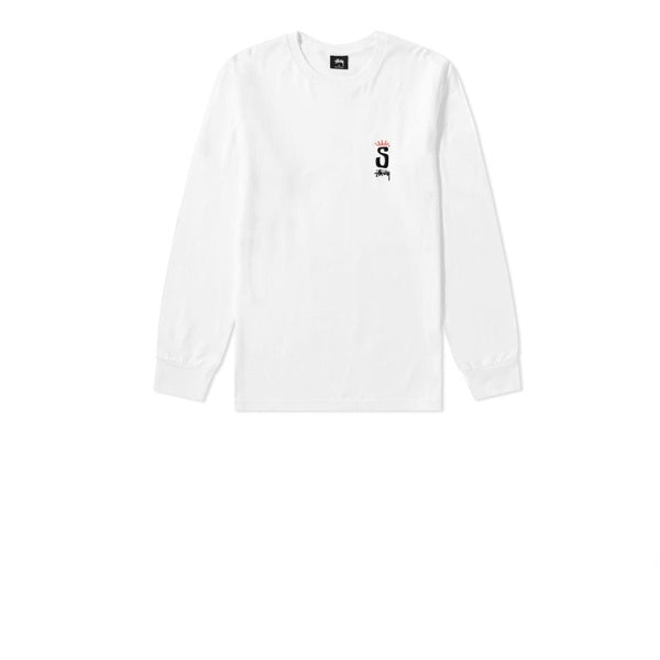 Stussy S Crown L/S Tee White