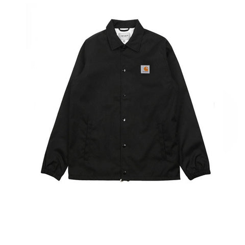 Carhartt Watch Coach Jacket Black Broken White