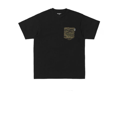 Carhartt S/S Lester Pocket T-Shirt Black Camo Tiger Laurel