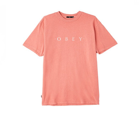 Obey Novel Obey Tee Dusty Dark Rose
