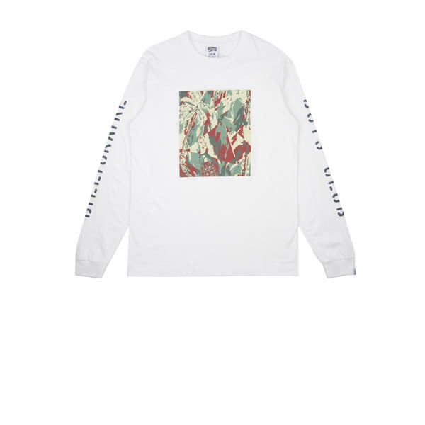Billionaire Boys Club Lizard Camo Tile L/S T-Shirt White