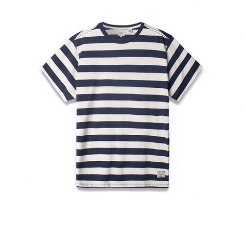 Levis SS Mighty Tee Bass Stripe Marshmallow Dress Blue