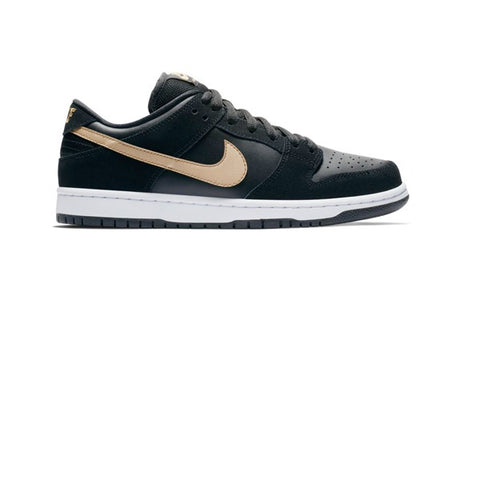 Nike SB Dunk Low Pro Black Metallic Gold White