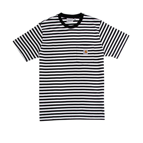 Carhartt S/S Haldon Pocket T-Shirt Stripe Black White