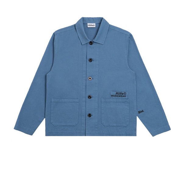 ALIFE Cropped Work Jacket Blue