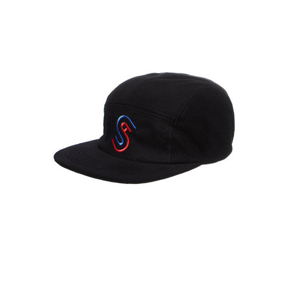 Stussy Foam Fleece USA Camp Cap Black - Kong Online - 1