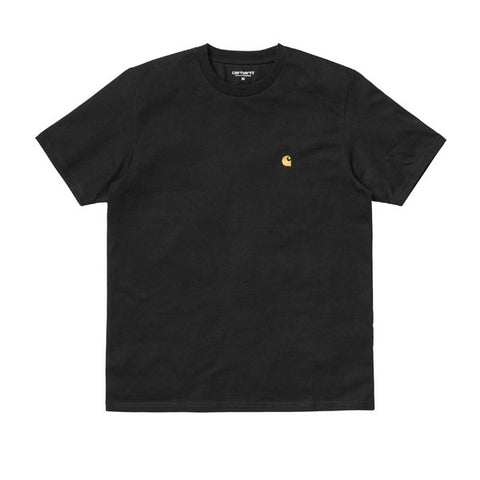 Carhartt S/S Chase T-Shirt Black Gold
