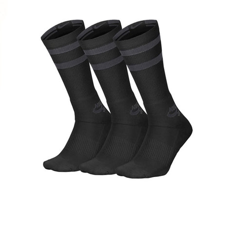 Nike SB 3 Pack Crew Socks Black