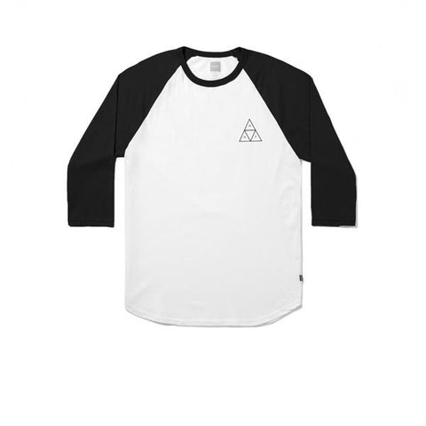 HUF Triple Triangle Raglan White Black