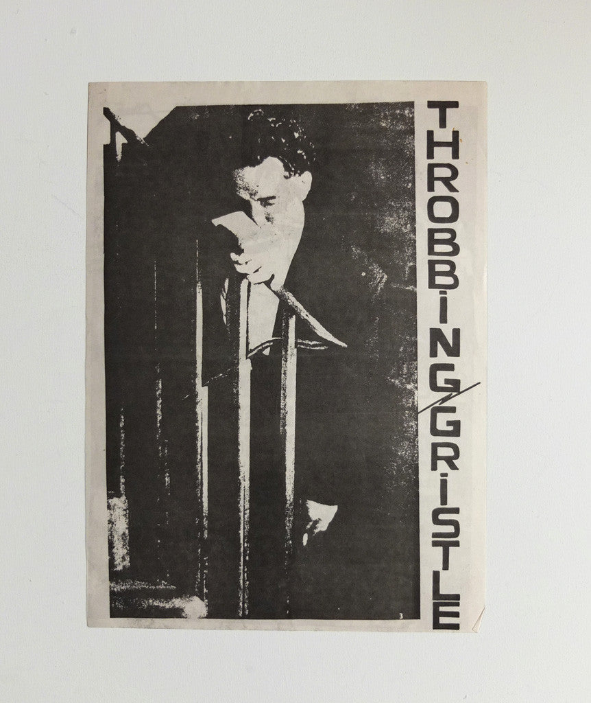 Throbbing Gristle at Sheffield University Union Bar poster, 1979