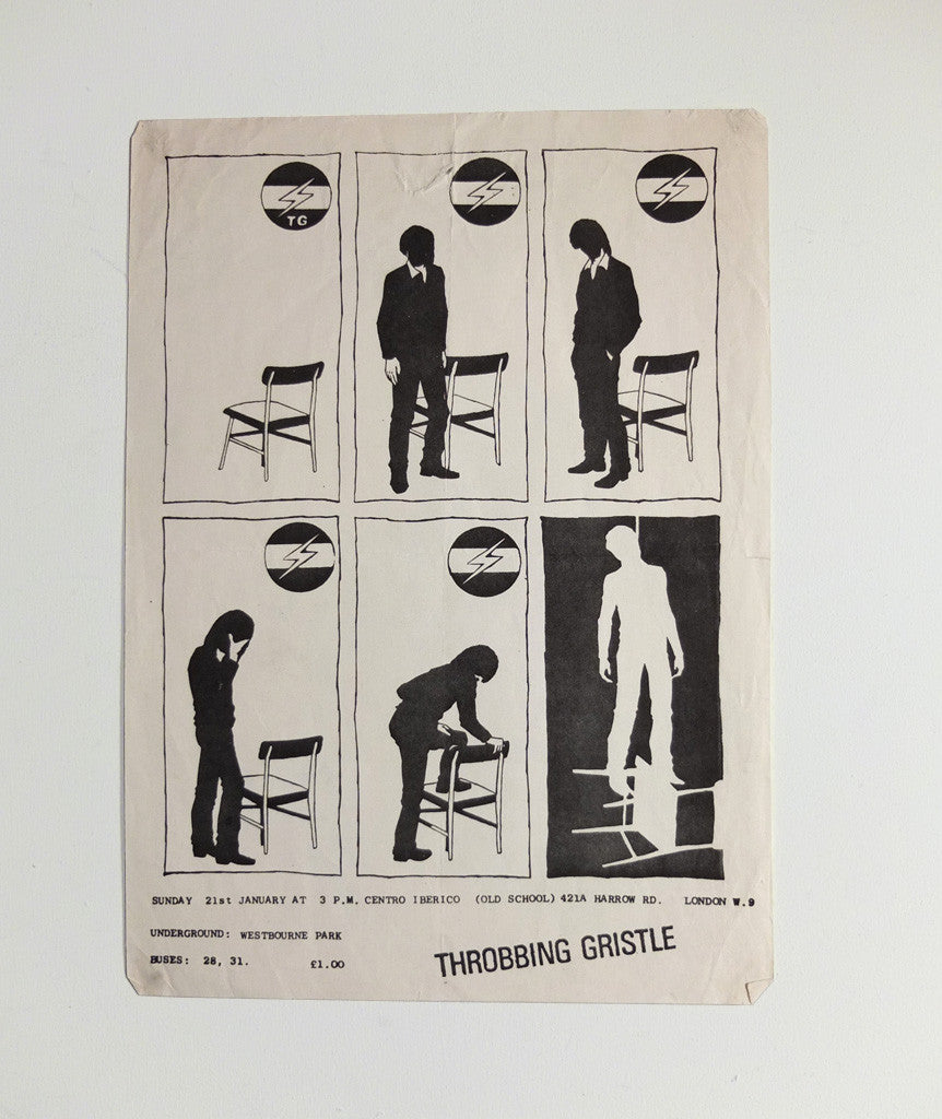 Throbbing Gristle at Centro Iberico poster, 1979