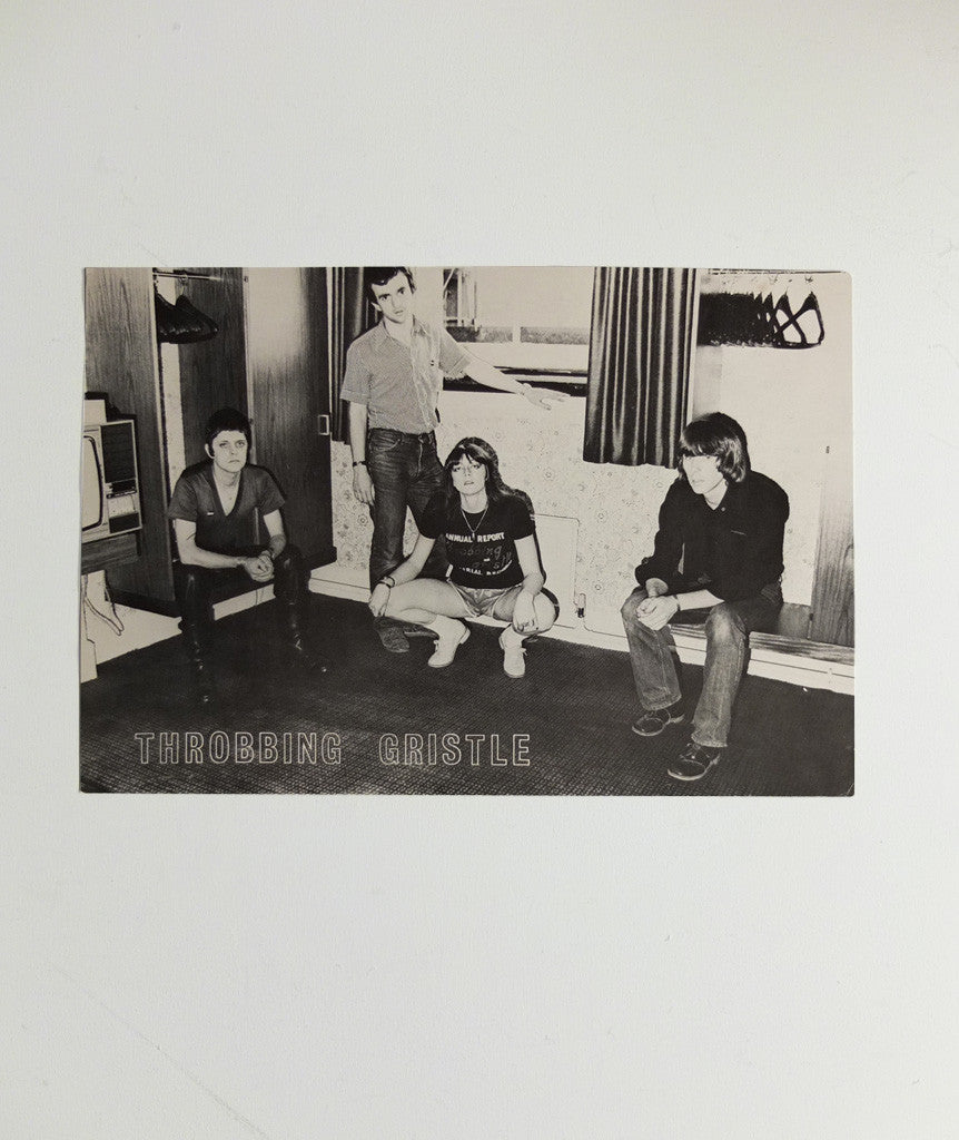 Throbbing Gristle group portrait poster}