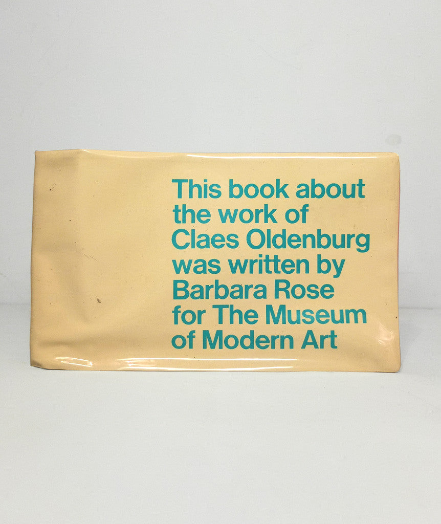 This book about the work of Claes Oldenburg was written by Barbara Rose for the Museum of Modern Art