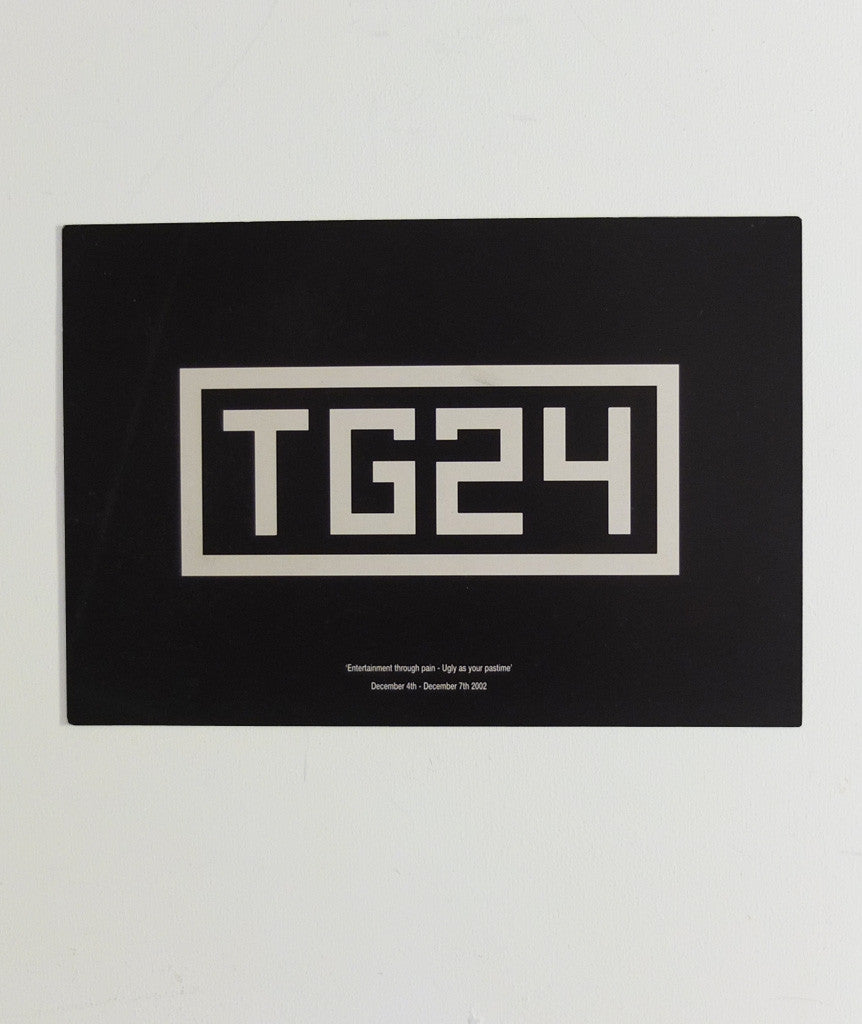 Throbbing Gristle TG24 flyer, 2002