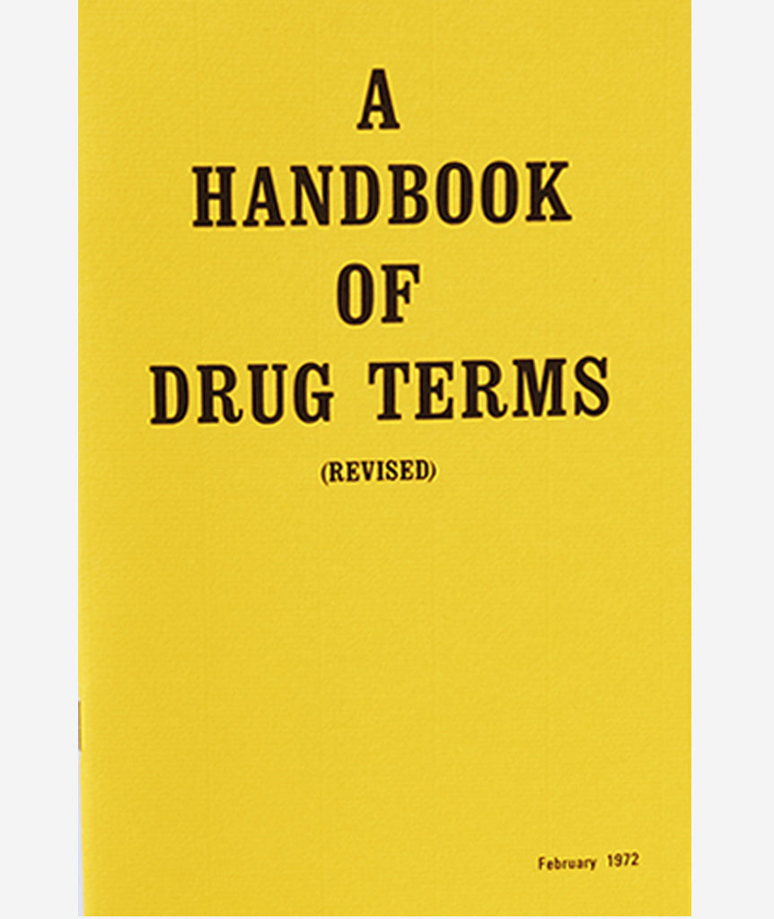 A Handbook Of Drug Terms}