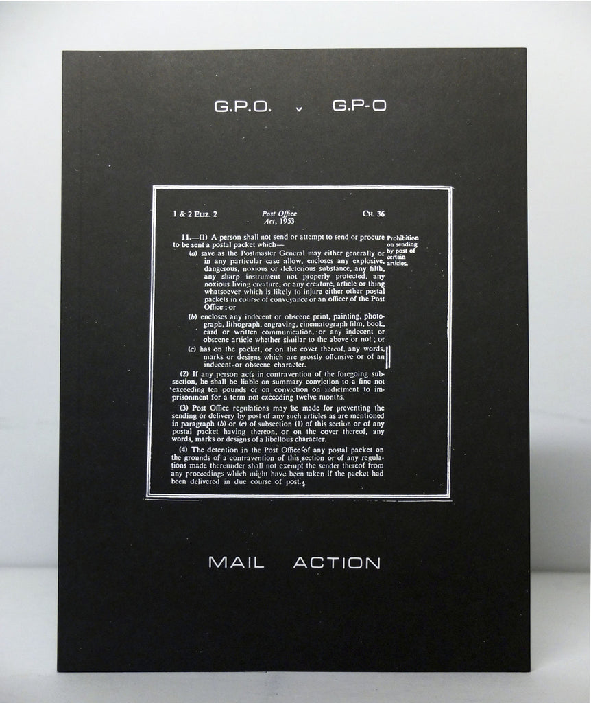 G.P.O. versus G.P-O: A Chronicle of Mail Art on Trial by Genesis P-Orridge