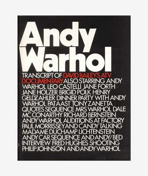 Andy Warhol: Transcript of David Bailey's ATV Documentary