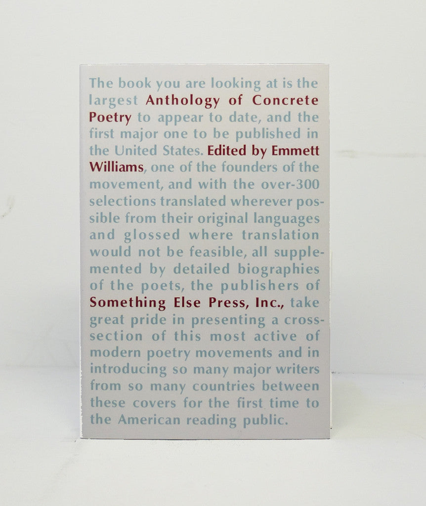 Anthology of Concrete Poetry Edited by Emmett Wiliams