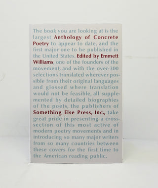 Anthology of Concrete Poetry Edited by Emmett Wiliams}