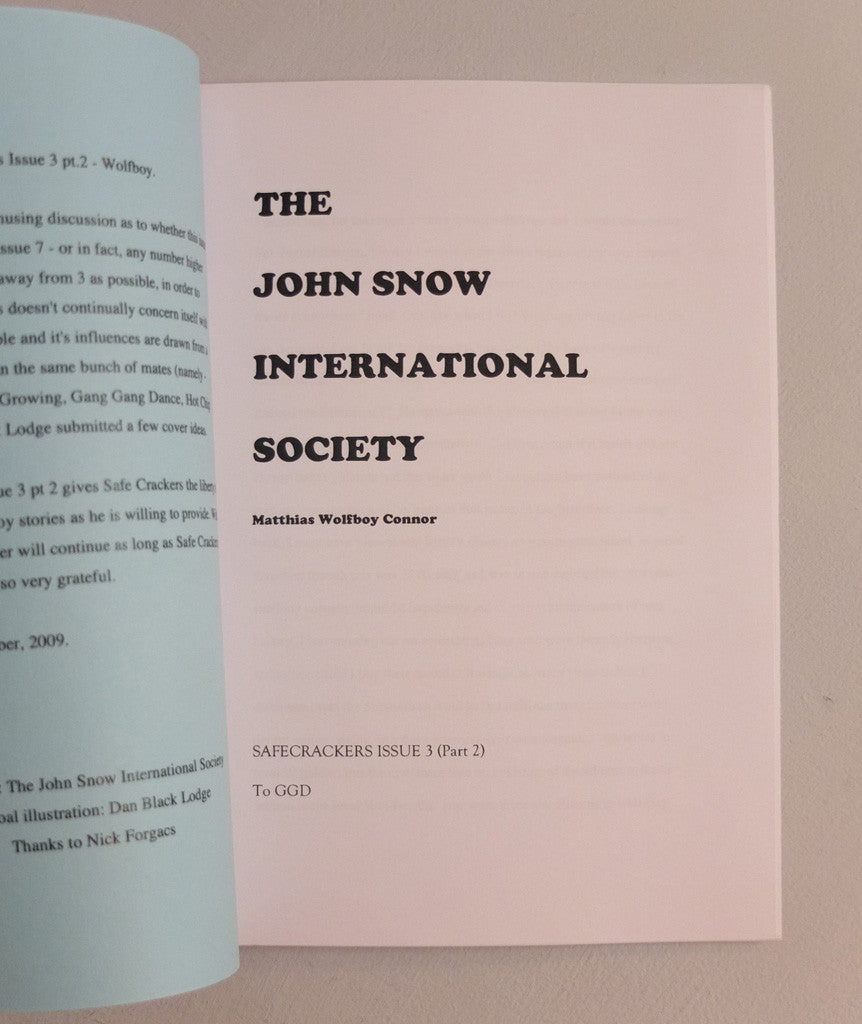 The John Snow International Society by Wolfboy}