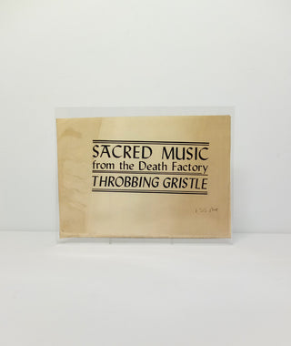 Throbbing Gristle: Sacred Music from the Death Factory - original flyer}