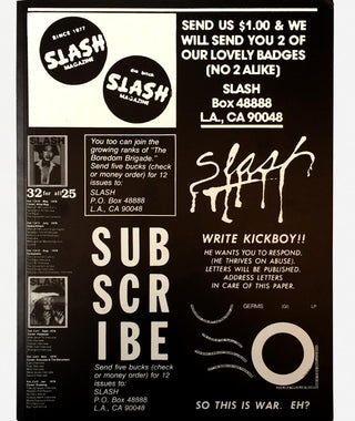Slash: A Punk Magazine from Los Angeles}