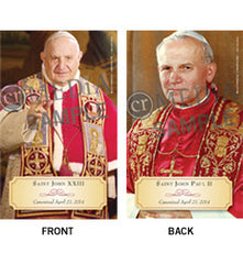 Blessed Pope John XXIII and Blessed Pope John Paul II Prayer Card