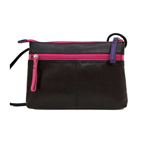 3 Zip Crossbody Bag