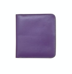 Purple & Green Small Bifold Leather Wallets
