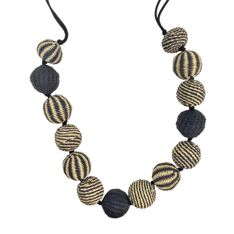 Large Sphere Stripped Necklace
