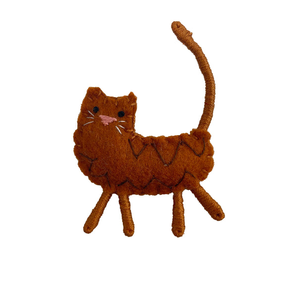 Felted Cat Pins