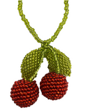 Beaded Cherry Necklace