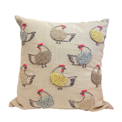 Dancing Roosters Pillow