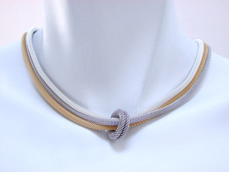 Three-Strand Mesh Necklace