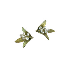 Flowering Myrtle Earrings - Post