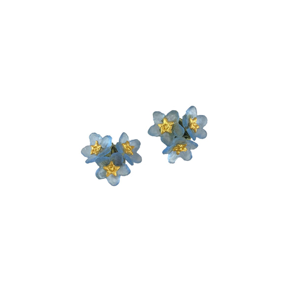 Forget Me Not Earrings - Triple Flower Post