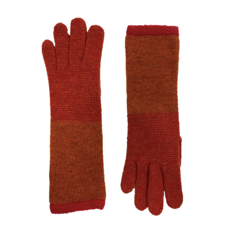Long Stripped Gloves