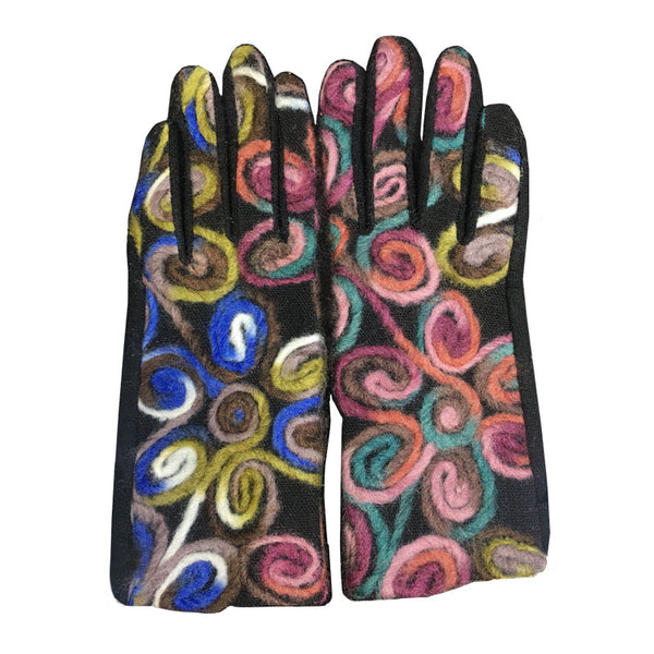 Portia Embroidered Floral Gloves