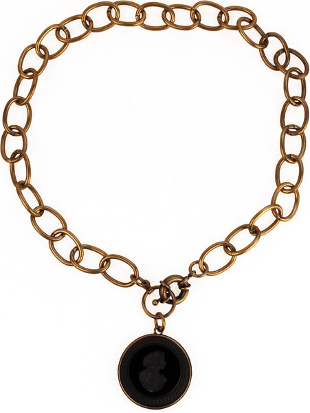 Jet Intaglio Necklace