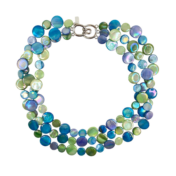 Three Strand Mother of Pearl Necklace